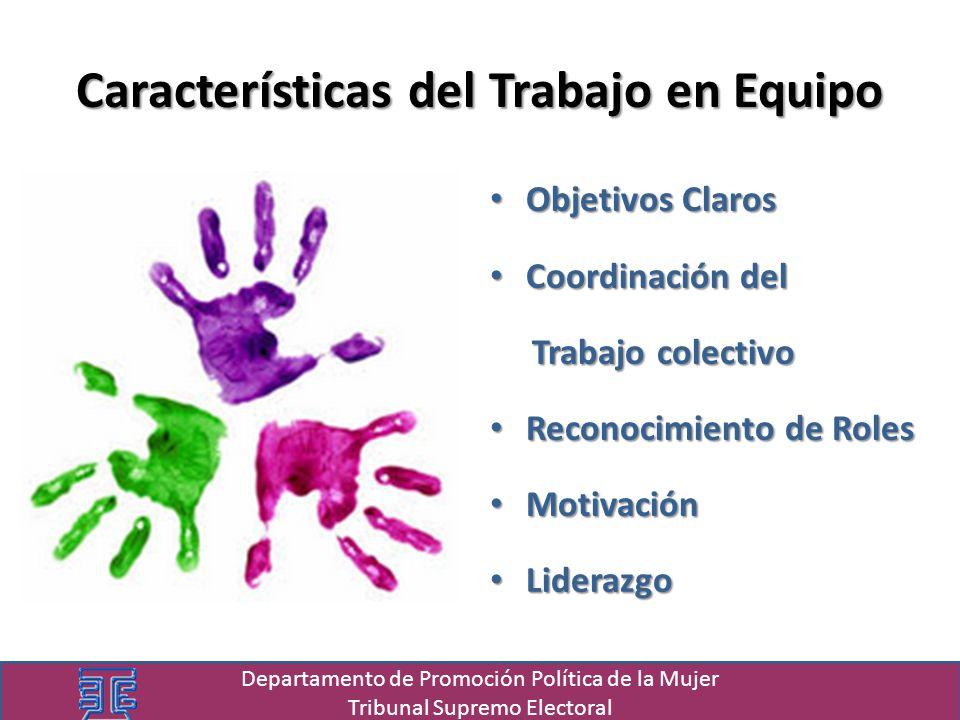 Objetivos Claros Objetivos Claros Coordinación del Coordinación del Trabajo colectivo Trabajo colectivo Reconocimiento de Roles Reconocimiento de Role