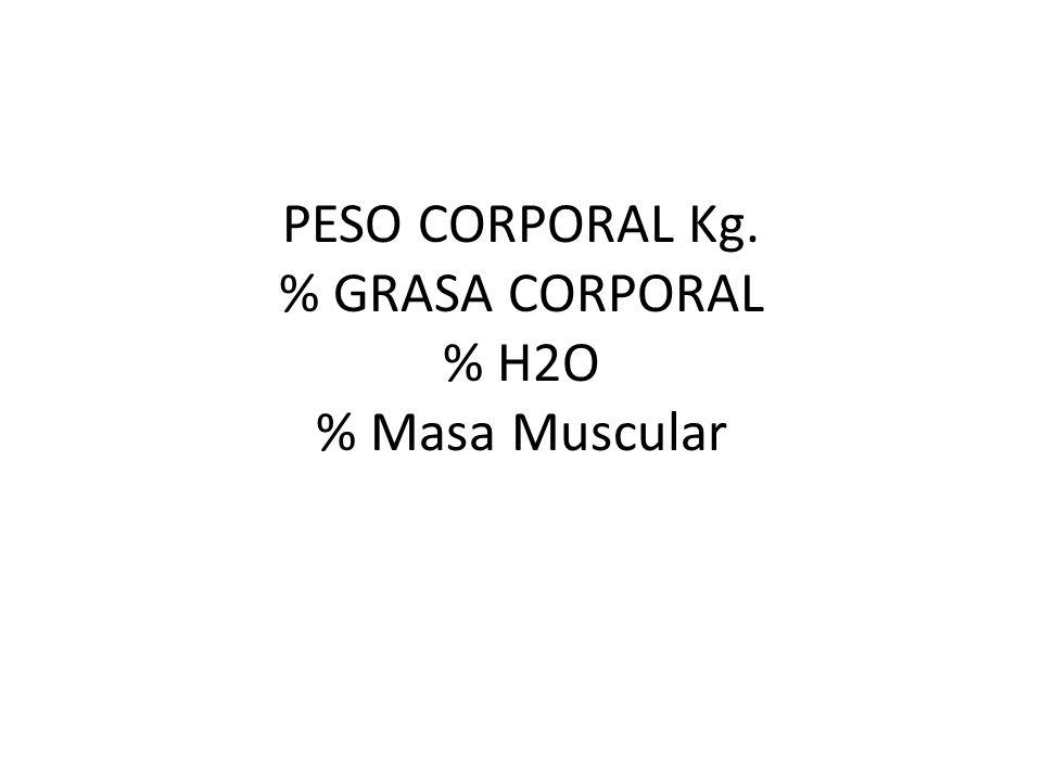 Peso Ideal ± 10 % (Mayor Esperanza de Vida – estadística -) 1era Manera: Hombre = 50 Kg + 0.91(altura cms) - 152.4 Mujer = 45.5 kg + 0.91 (altura cms) - 152.4