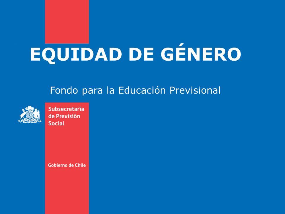 EQUIDAD DE GÉNERO AUMENTO DE COBERTURA DE SEGURO DE INVALIDEZ Y SOBREVIVENCIA A contar del 1 de octubre de 2008 se igualó a 65 años la cobertura del Seguro de Invalidez y Sobrevivencia (SIS) para hombres y mujeres.