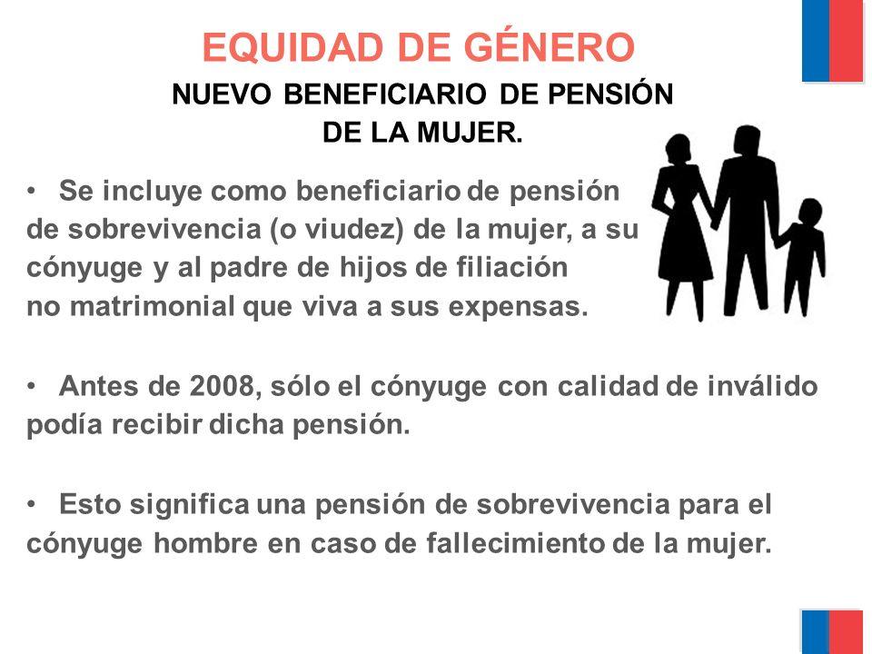 BONO POR HIJO NACIDO VIVO O ADOPTADO Para las mujeres que se pensionen desde el 1º de Julio de 2009 y que hayan cumplido los 65 años.