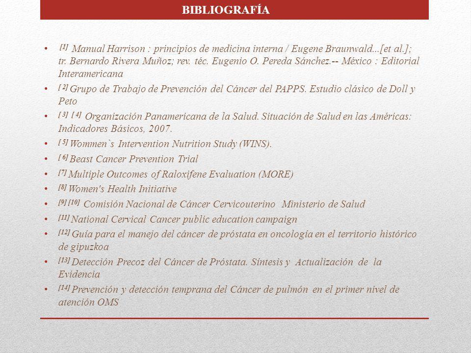 [1] Manual Harrison : principios de medicina interna / Eugene Braunwald...[et al.]; tr. Bernardo Rivera Muñoz; rev. téc. Eugenio O. Pereda Sánchez.--