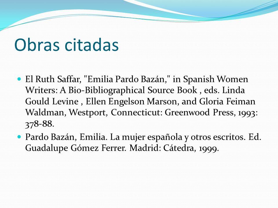 Obras citadas El Ruth Saffar,