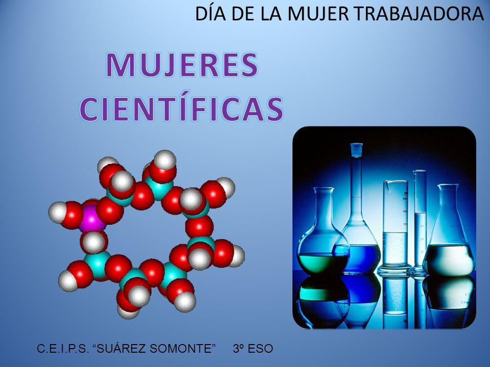 DÍA DE LA MUJER TRABAJADORA Trayectoria profesional: Trabajó en el campo de la biología y la bioquímica molecular.