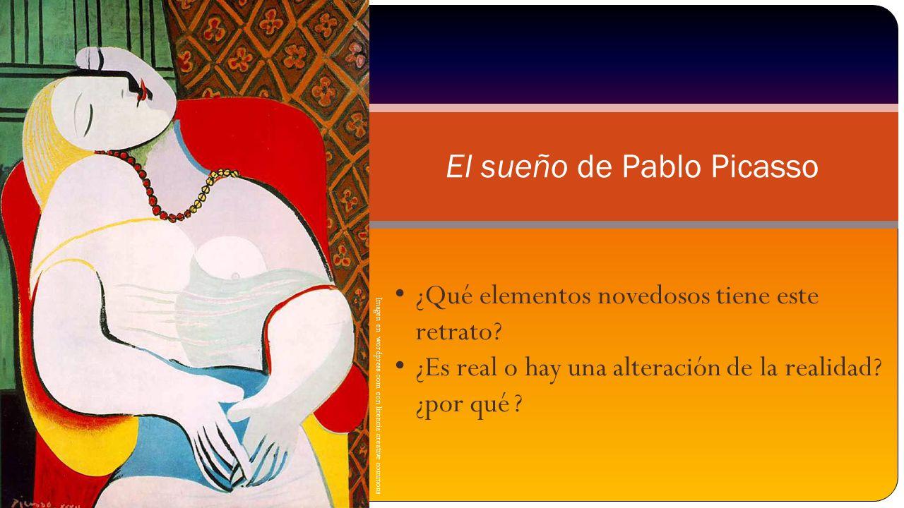 Imagen en wordpress.com con licencia creative commons El sueño de Pablo Picasso ¿Qué elementos novedosos tiene este retrato? ¿Es real o hay una altera