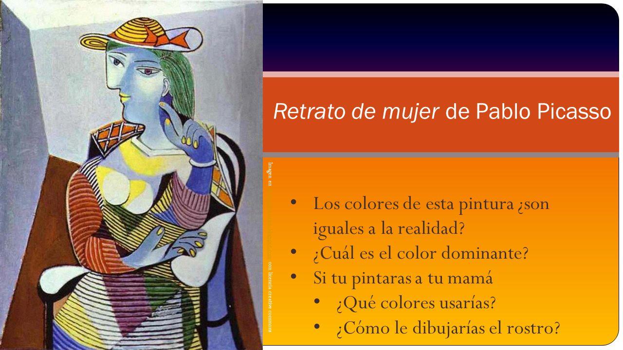Imagen en plasticamariarios.blogspot.com con licencia creative commonsplasticamariarios.blogspot.com Retrato de mujer de Pablo Picasso Los colores de