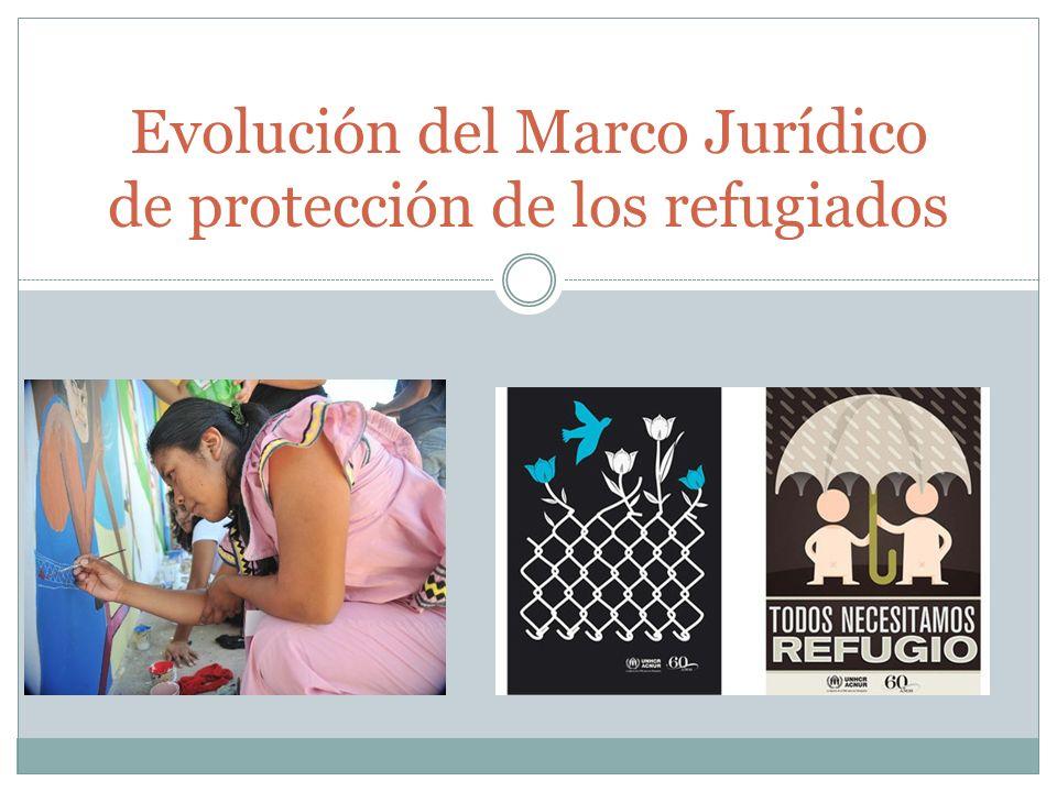 Evolución del Marco Jurídico de protección de los refugiados