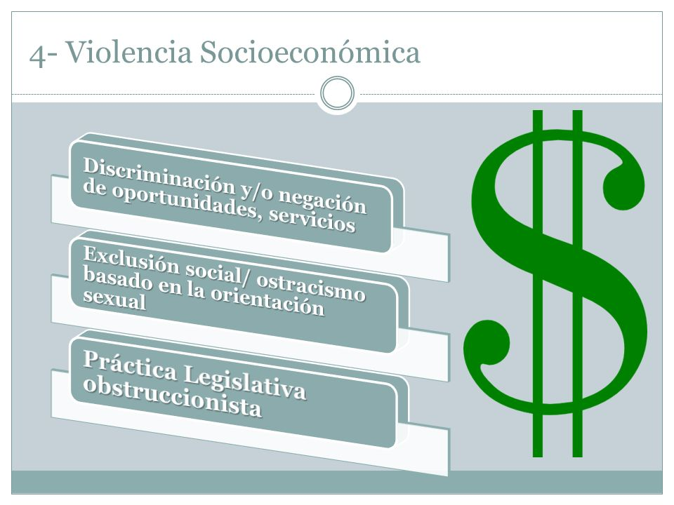 4- Violencia Socioeconómica