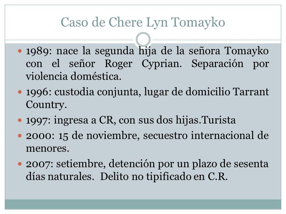 Caso de Chere Lyn Tomayko 1989: nace la segunda hija de la señora Tomayko con el señor Roger Cyprian.