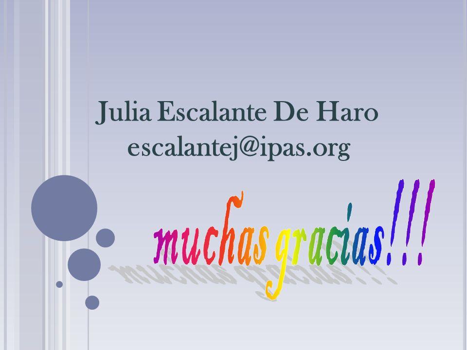 Julia Escalante De Haro escalantej@ipas.org