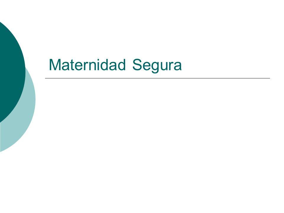 Peru 185 muertes maternas por 100.000 nacidos vivos (1.200 muertes anuales).