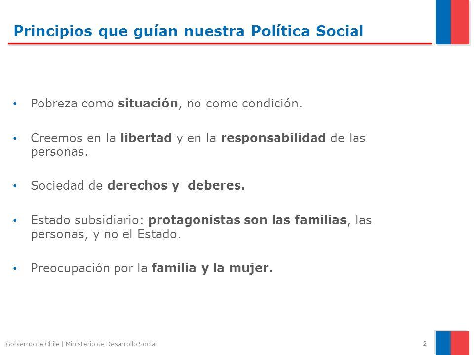 Principios que guían nuestra Política Social Pobreza como situación, no como condición. Creemos en la libertad y en la responsabilidad de las personas