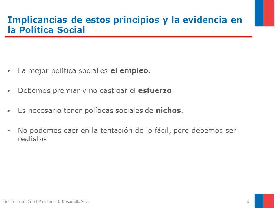 Implicancias de estos principios y la evidencia en la Política Social La mejor política social es el empleo. Debemos premiar y no castigar el esfuerzo