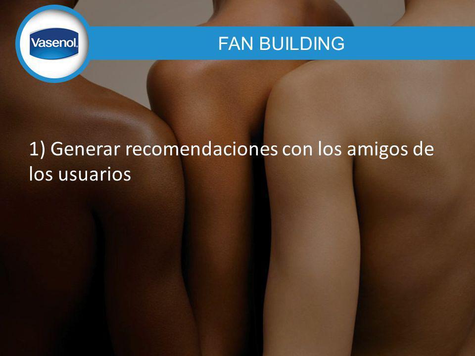 1) Generar recomendaciones con los amigos de los usuarios FAN BUILDING