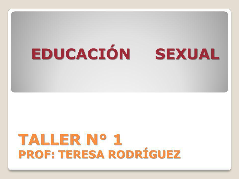 TALLER N° 1 PROF: TERESA RODRÍGUEZ EDUCACIÓN SEXUAL