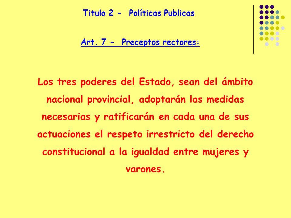 Titulo 2 - Políticas Publicas Art.