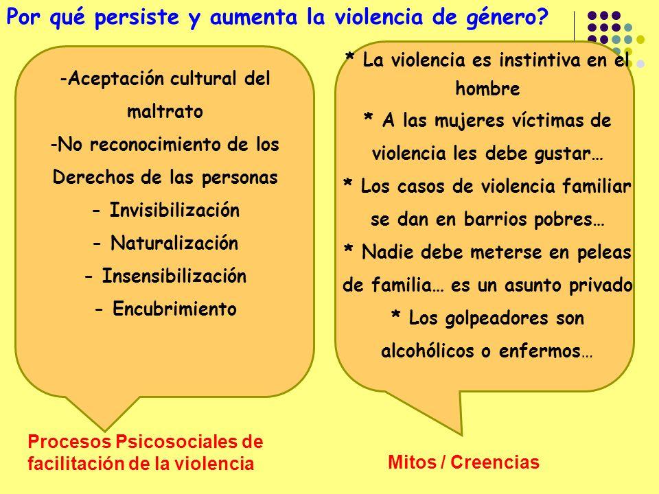Por qué persiste y aumenta la violencia de género.