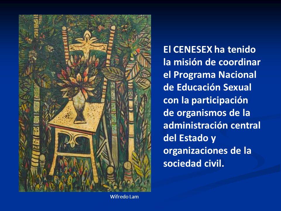 El CENESEX ha tenido la misión de coordinar el Programa Nacional de Educación Sexual con la participación de organismos de la administración central d
