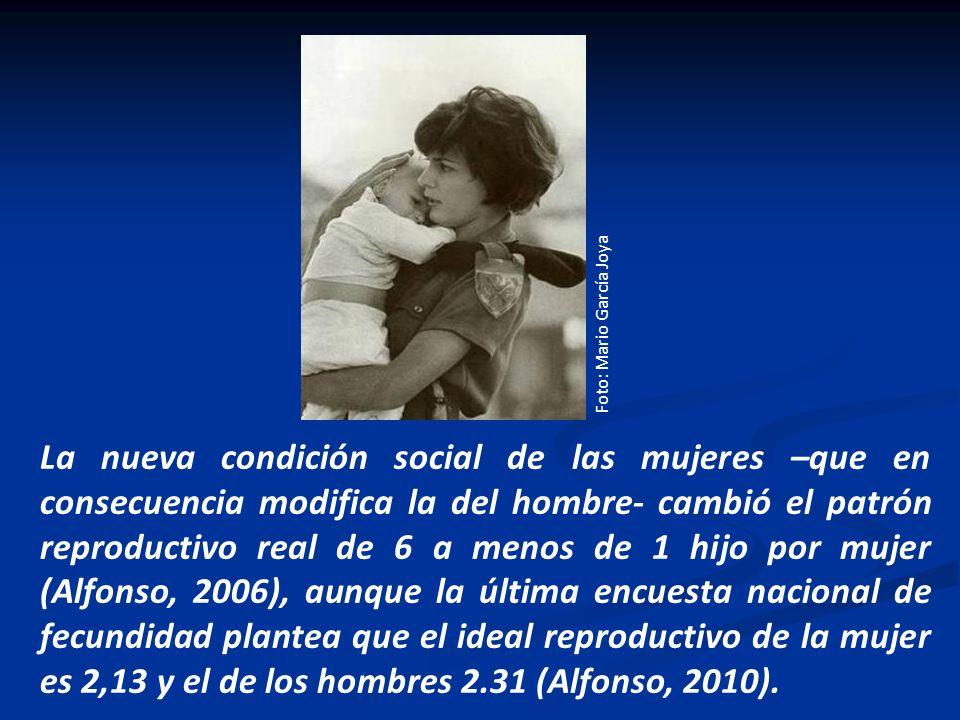 Foto: Mario García Joya La nueva condición social de las mujeres –que en consecuencia modifica la del hombre- cambió el patrón reproductivo real de 6