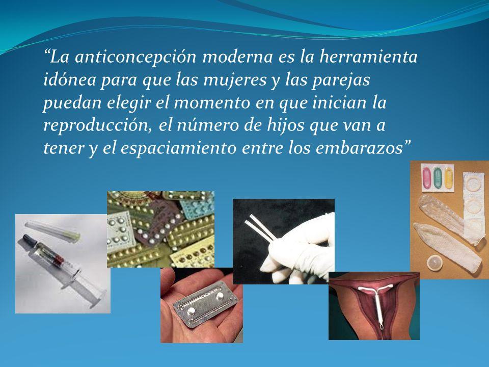 La anticoncepción moderna es la herramienta idónea para que las mujeres y las parejas puedan elegir el momento en que inician la reproducción, el núme