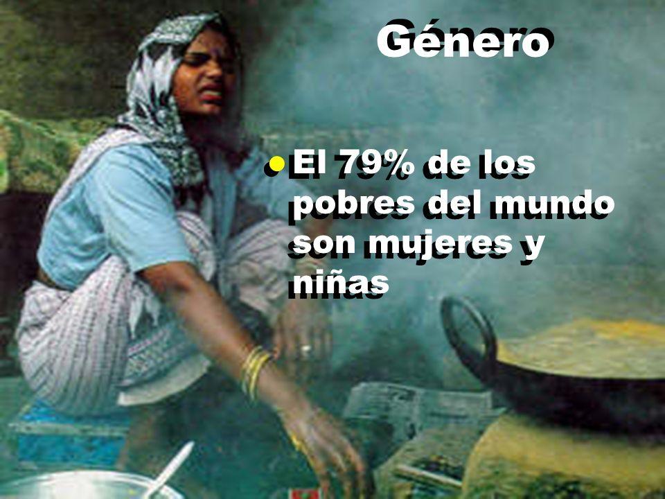 Género l El 79% de los pobres del mundo son mujeres y niñas
