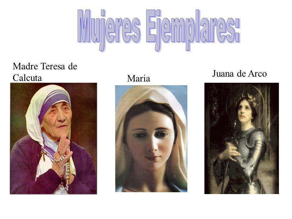 Madre Teresa de Calcuta Juana de Arco Maria