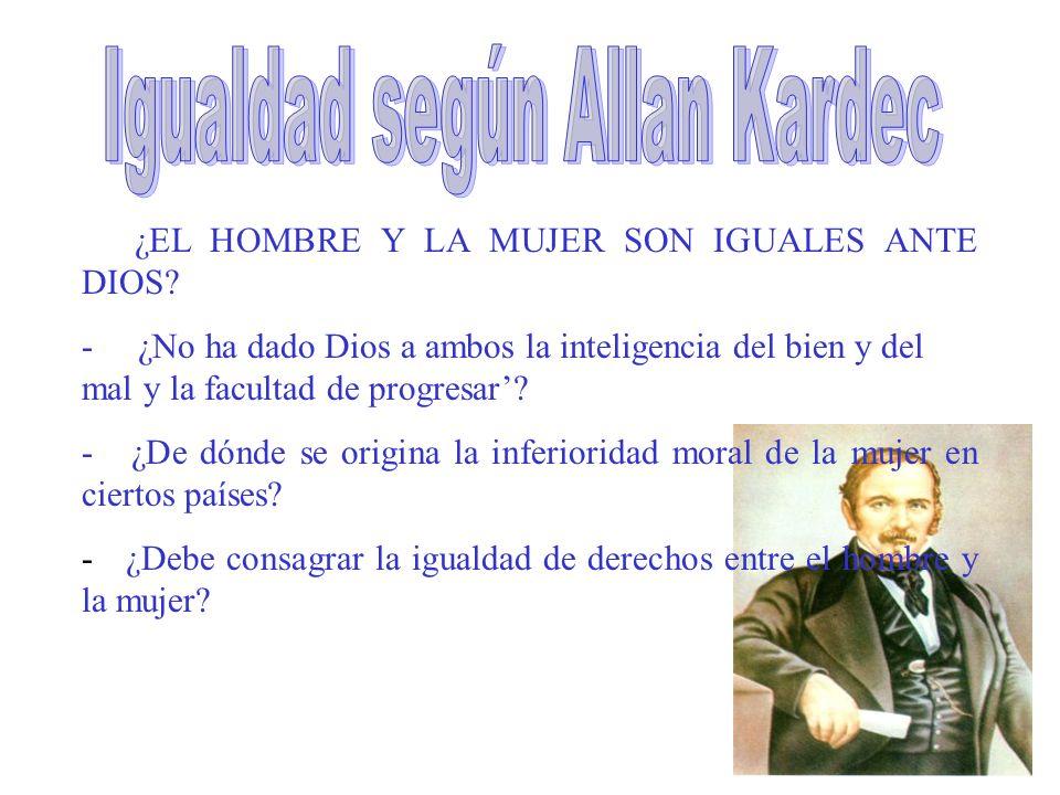 ¿EL HOMBRE Y LA MUJER SON IGUALES ANTE DIOS.
