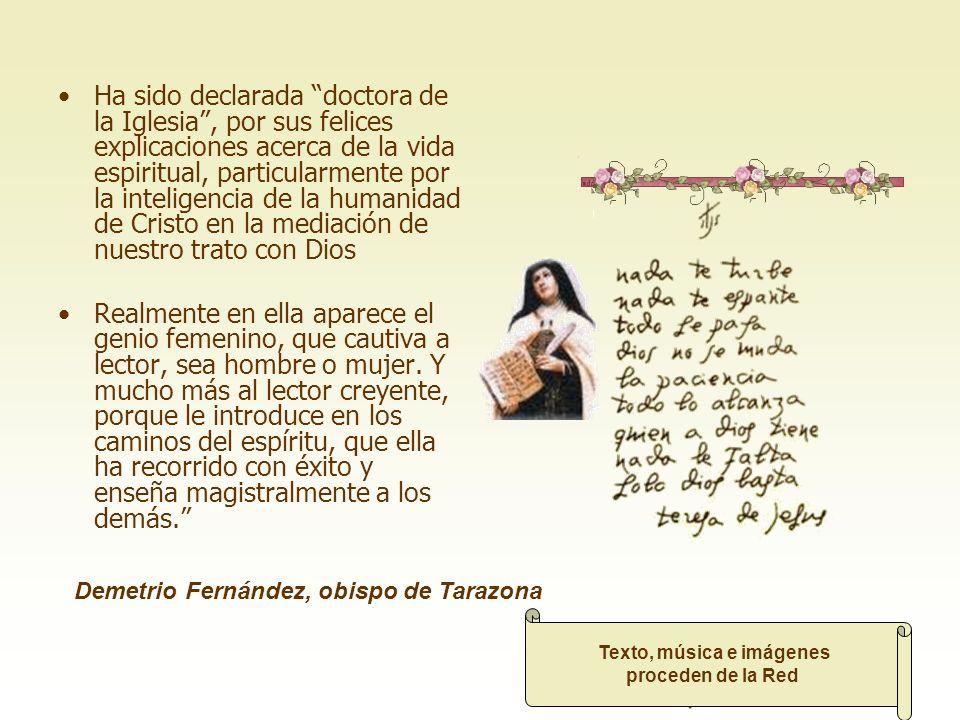 Santa Teresa es una mujer encantadora que ha dejado huella en la historia de la humanidad Cada vez que la leo, me siento implicado en un diálogo que e
