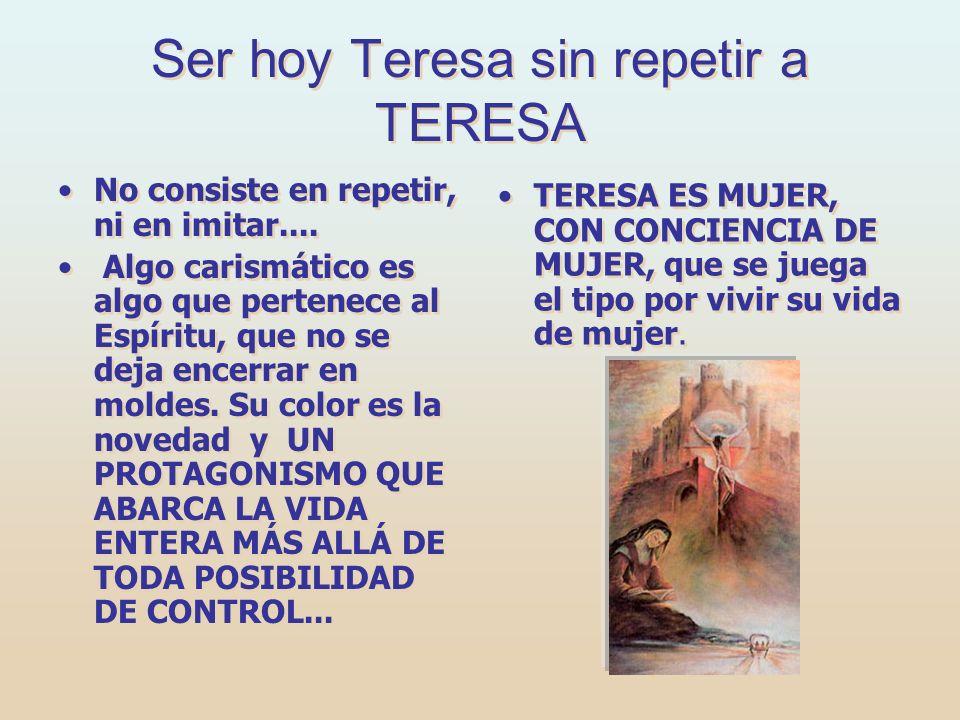EN VEZ DE CARROMATOS... En vez de ANDARIEGA habría sido en nuestros días CIBERNAUTA. Santa Teresa de Jesús es la mayor mística de la Iglesia. Nació en