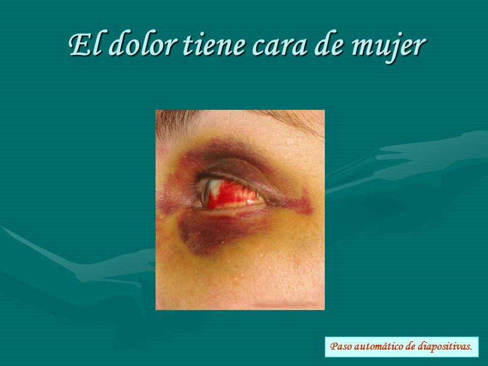 El dolor tiene cara de mujer Paso automático de diapositivas.