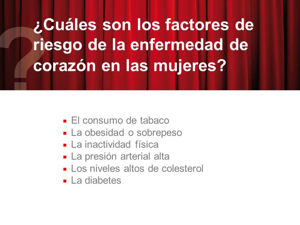 ¿Cuáles son los factores de riesgo de la enfermedad de corazón en las mujeres.