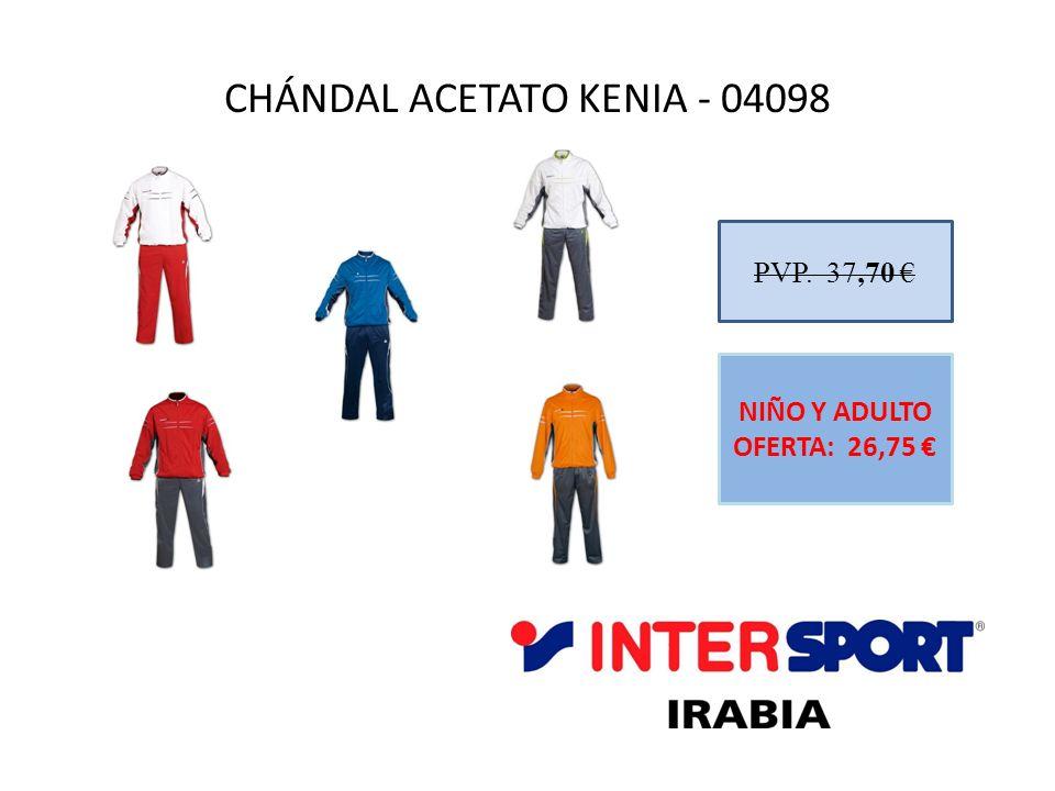 CHÁNDAL ACETATO KENIA - 04098 PVP. 37,70 NIÑO Y ADULTO OFERTA: 26,75