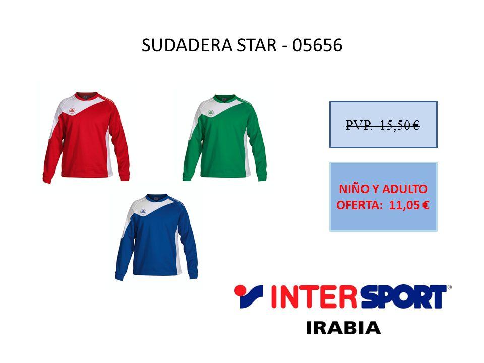 SUDADERA STAR - 05656 PVP. 15,50 NIÑO Y ADULTO OFERTA: 11,05