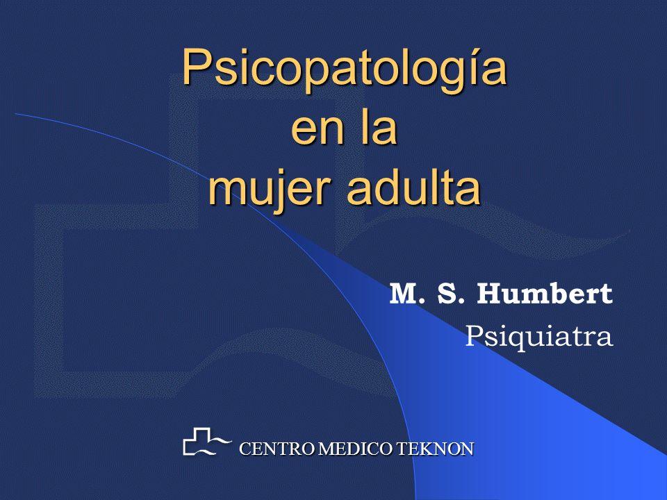 Trastornos Psíquicos postparto Psicosis Postparto: Baja incidencia: 0,1-0,2% de los partos Cuadro psicótico muy florido, con alucinaciones ópticas, auditivas y olfativas y gran labilidad afectiva.