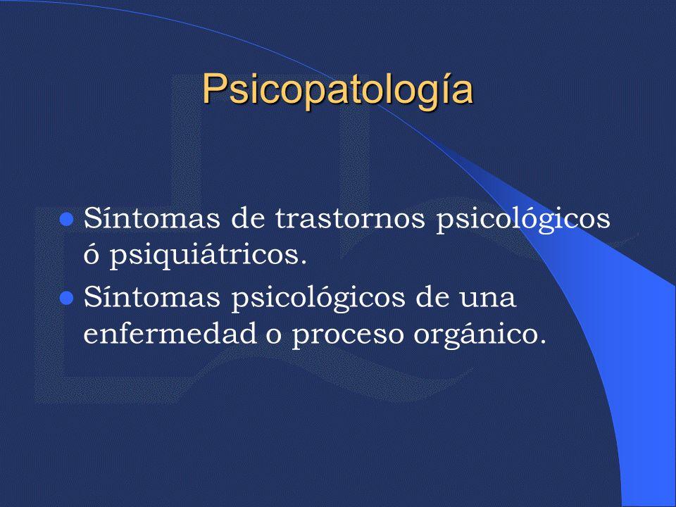 Trastornos Psíquicos de Población General Trastornos Psíquicos asociados al ciclo reproductor