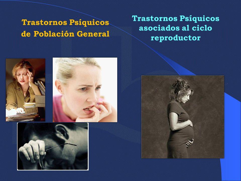 TRASTORNOS PSÍQUICOS GENERALES, SU EXPRESIÓN EN POBLACIÓN FEMENINA Algunos trastornos presentan una mayor incidencia en mujeres.