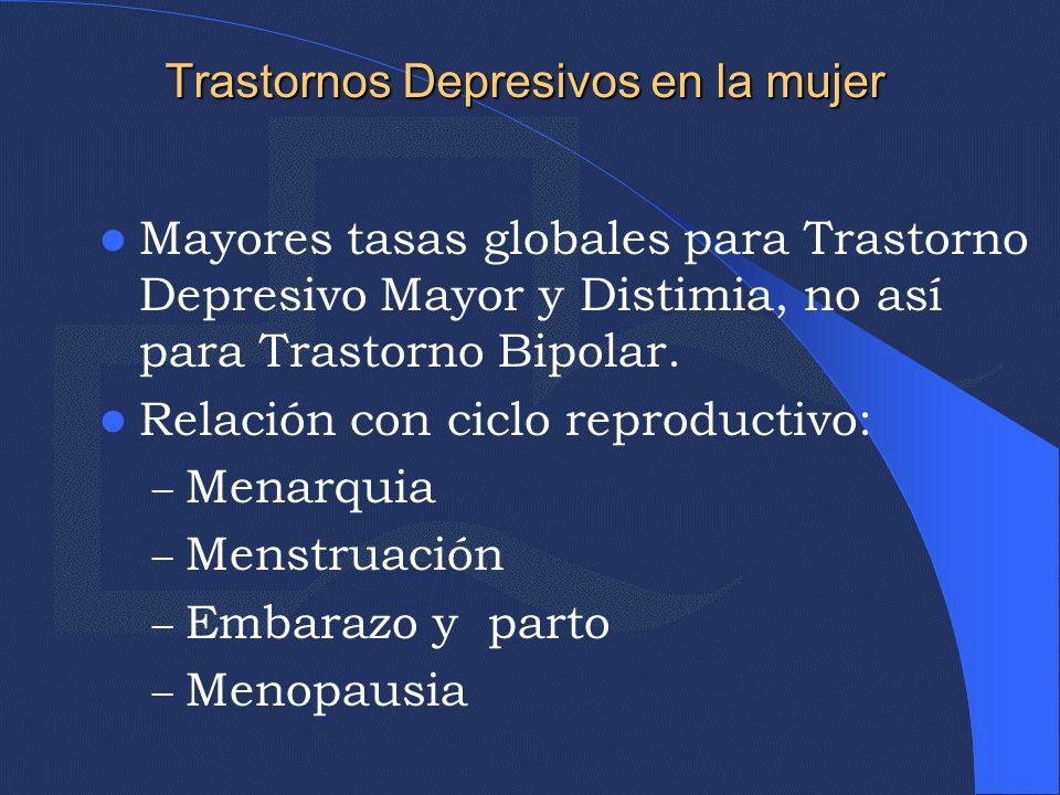 Trastorno disfórico Premenstrual Los síntomas están claramente ligados a la fase luteínica, desaparecen tras la menopausia.
