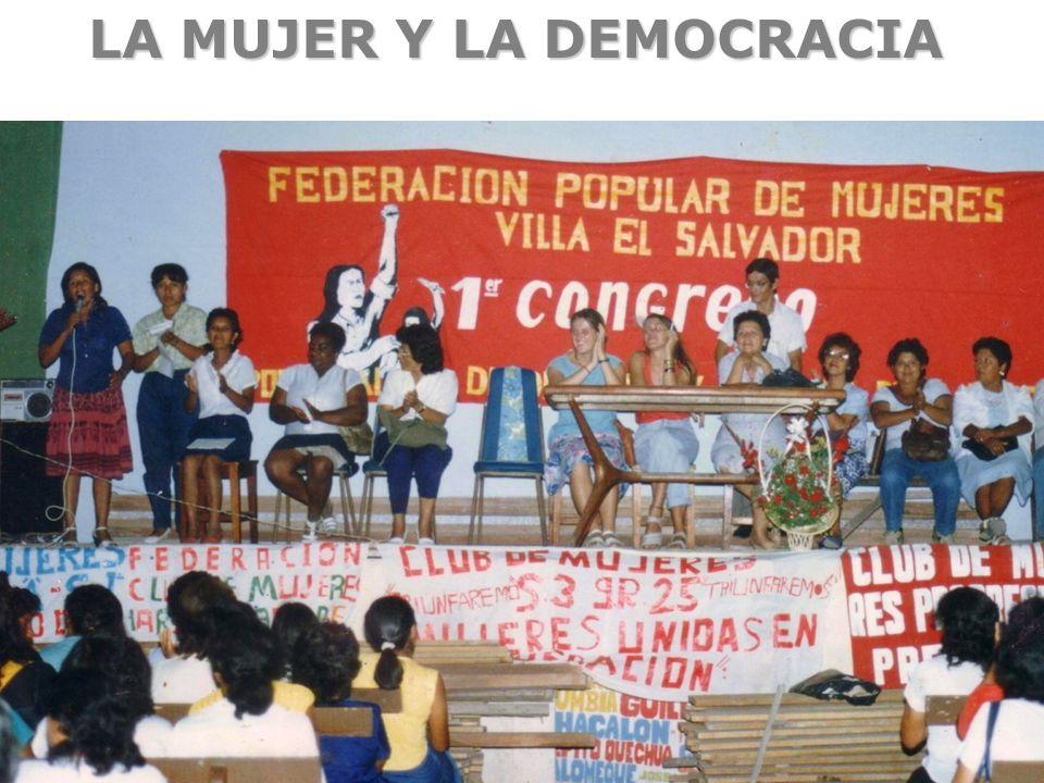 LA MUJER Y LA DEMOCRACIA
