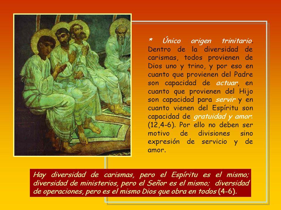* Introducción: todo viene del Espíritu, que nunca induce a maldecir a Jesús (12,1-3) En cuanto a los dones espirituales, no quiero, hermanos, que est