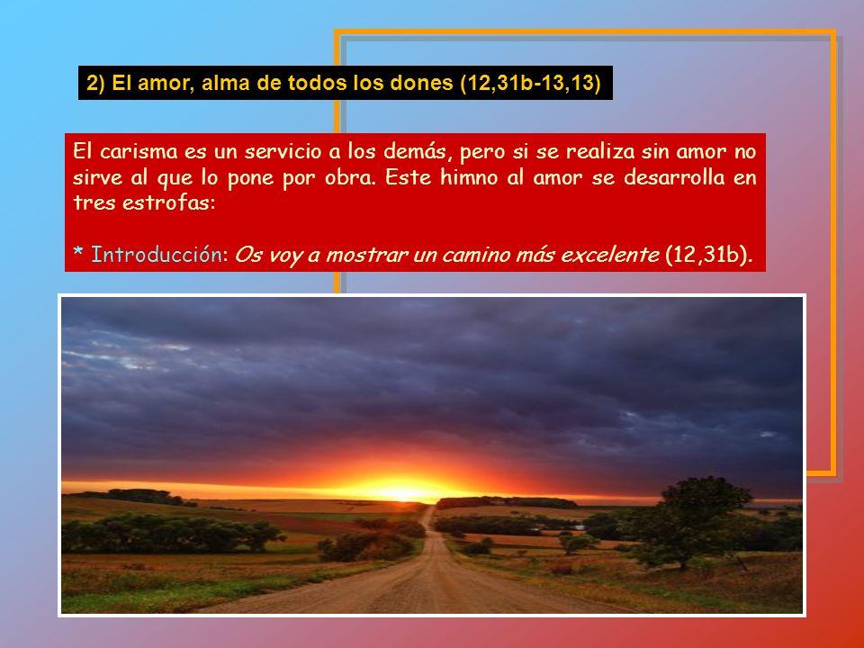* Otros carismas (segunda lista: 12,28-30): + Terna principal: Primero apóstoles, segundo profetas, tercero doctores (28a) + Siguen otros: milagros...