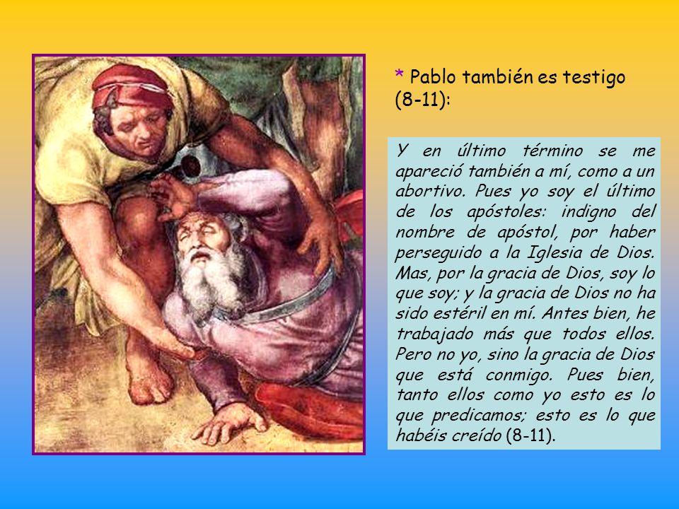 * Credo (3b-7). Cita a continuación este credo, acuñado por los cristianos en los primeros años del cristianismo (se considera el documento cristiano