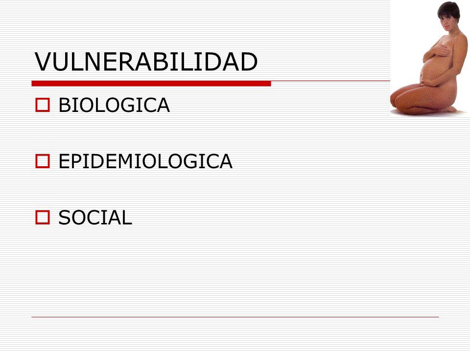 VULNERABILIDAD BIOLOGICA EPIDEMIOLOGICA SOCIAL