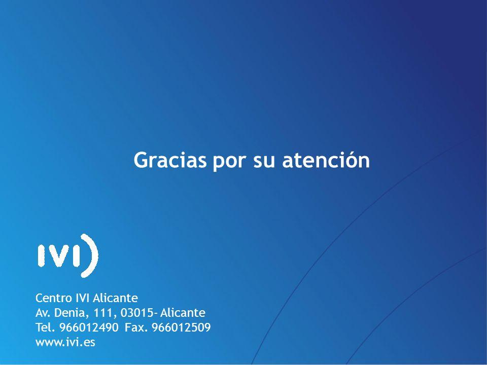 PÁG.37 Gracias por su atención Centro IVI Alicante Av. Denia, 111, 03015- Alicante Tel. 966012490 Fax. 966012509 www.ivi.es