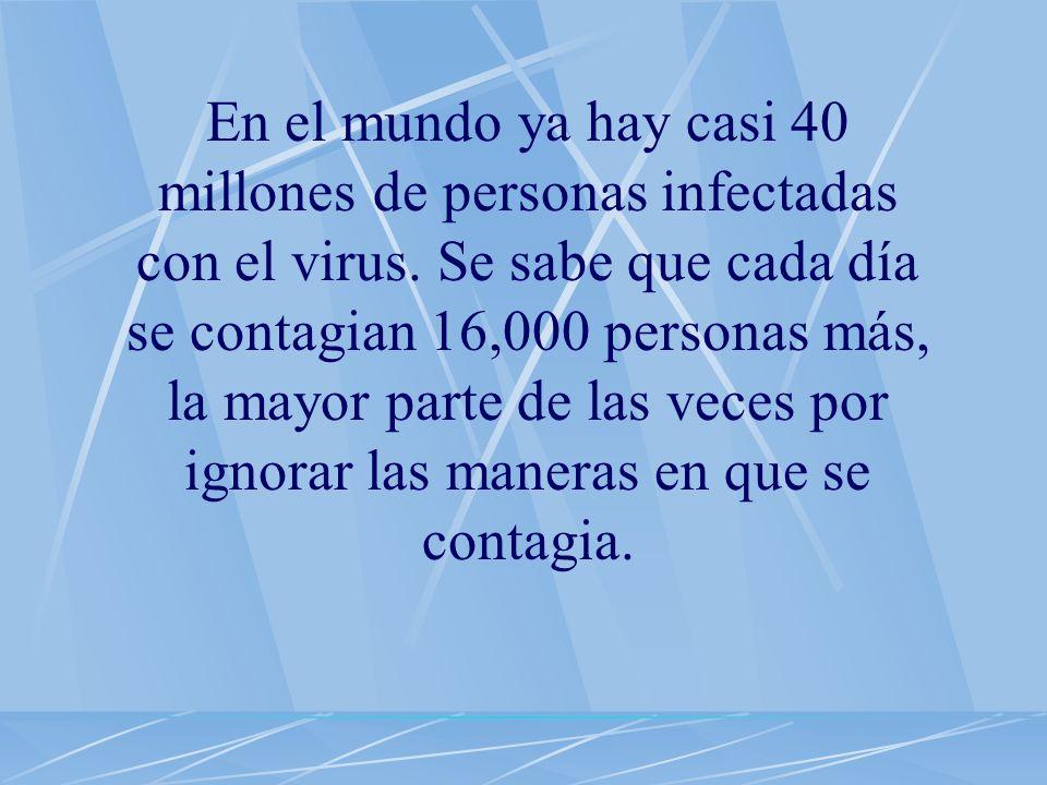 El SIDA es una enfermedad que cualquier ser humano puede adquirir. Todos podemos infectarnos si no nos protegemos.