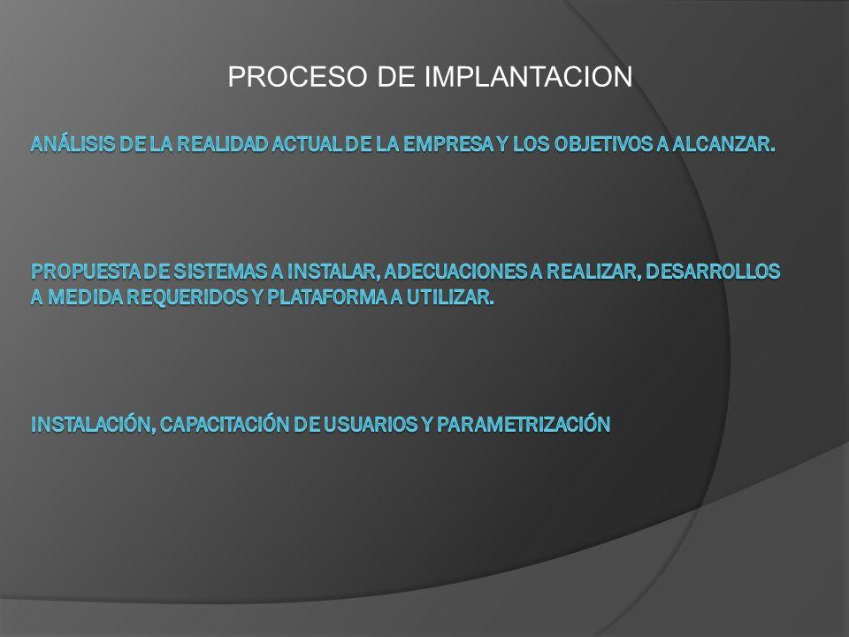 PROCESO DE IMPLANTACION