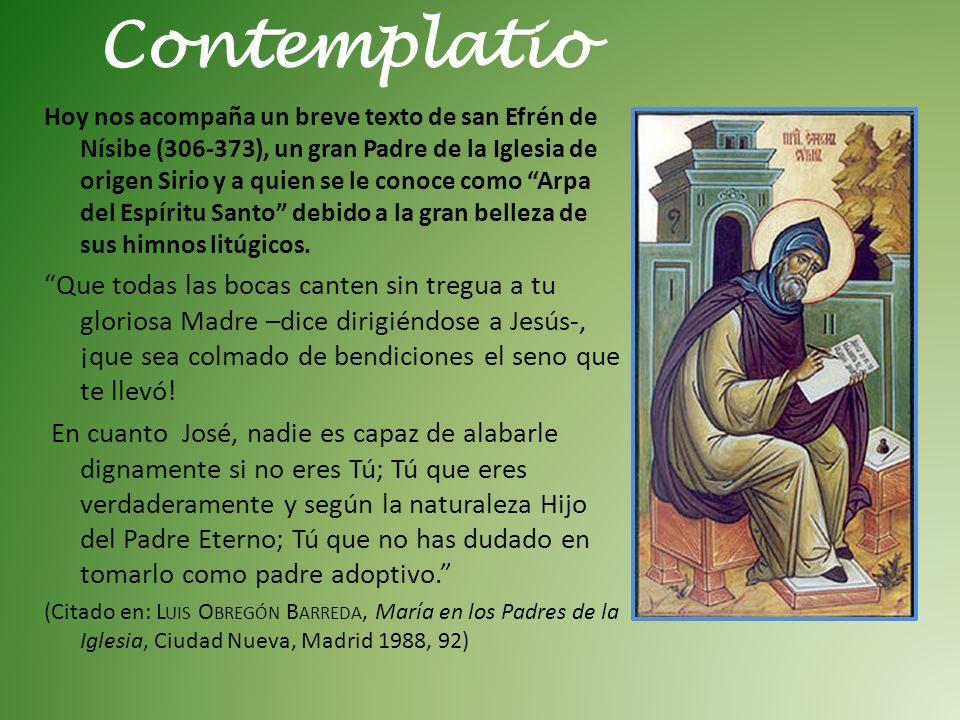 Hoy nos acompaña un breve texto de san Efrén de Nísibe (306-373), un gran Padre de la Iglesia de origen Sirio y a quien se le conoce como Arpa del Espíritu Santo debido a la gran belleza de sus himnos litúgicos.