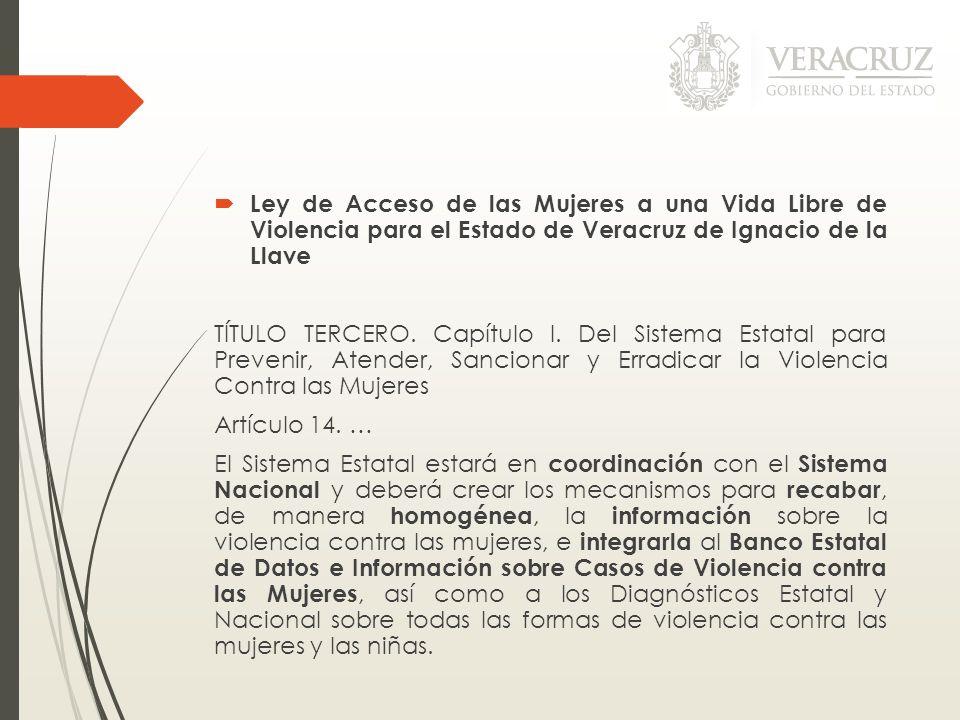 Ley de Acceso de las Mujeres a una Vida Libre de Violencia para el Estado de Veracruz de Ignacio de la Llave TÍTULO TERCERO. Capítulo I. Del Sistema E