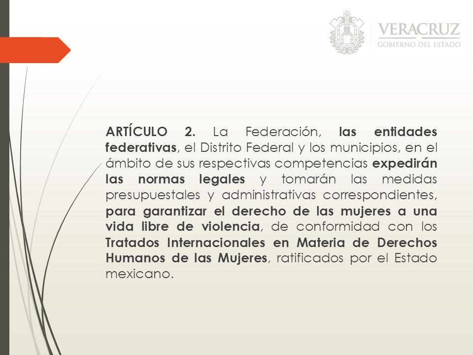 ARTÍCULO 2. La Federación, las entidades federativas, el Distrito Federal y los municipios, en el ámbito de sus respectivas competencias expedirán las