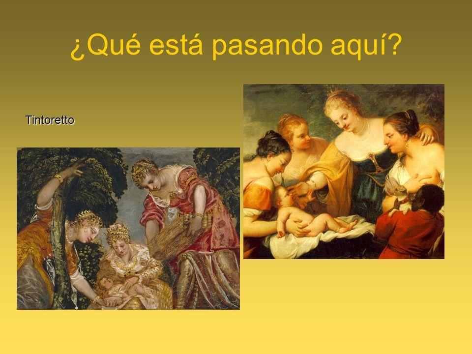 ¿Qué está pasando aquí? Tintoretto