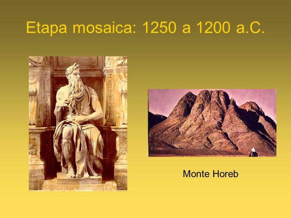 Etapa mosaica: 1250 a 1200 a.C. Monte Horeb