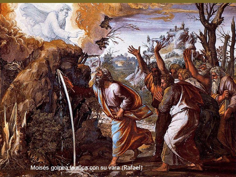 Moisés golpea la roca con su vara ( Rafael )